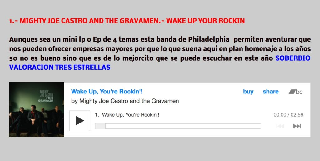 Mighty Joe Castro and the Gravamen Mi Tocadiscos dual blog