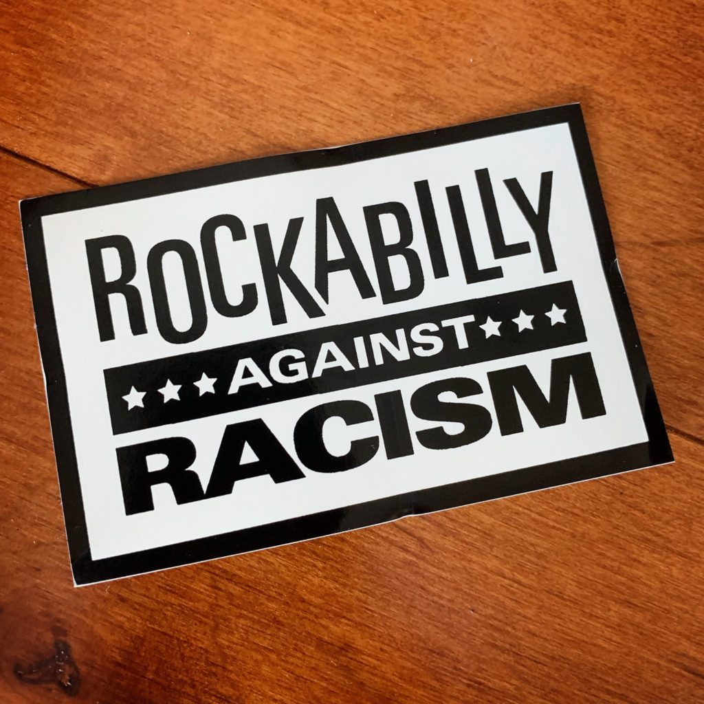 Rockabilly Against Racism sticker