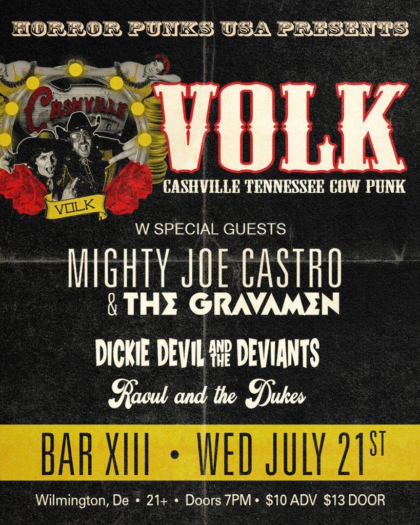 VOLK wth Mighty Joe Castro and the Gravamen at Bar XIII rockabilly