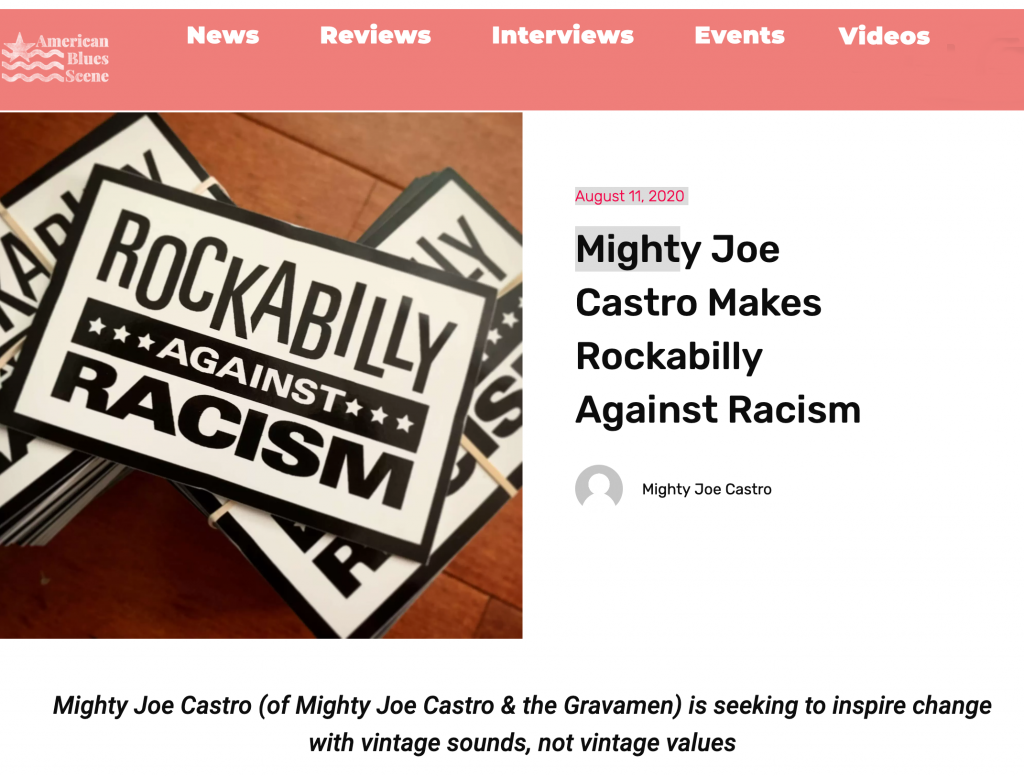 Mighty Joe Castro writes about Rockabilly Against Racism for American Blues Scene